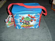 MARVEL COMICS SPIDERMAN & FRIENDS HULK NEW LUNCH TOTE BOX NSULATED w/Thermos
