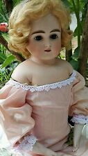 "23"" Alt, Beck and Gottschalck ""Open-Mouth"" Turned Head with Original Pate/Wig"
