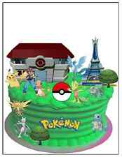 POKEMON PREMIUM WAFER Commestibile Compleanno Carta Decorazione Per Torta scena (Uncut)