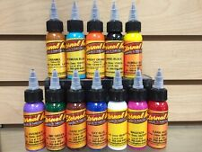 Eternal Tattoo Ink 12 Color Artistic Ink Professional Set 1 Ounce 100% Authentic