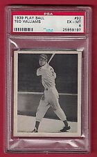 1939 Play Ball Ted Williams Hall of Fame Rookie PSA 6 EX-MT (RARE BACK VERSION)
