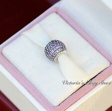 Authentic Pandora Sterling Silver Purple Pave Lights Bead 791051CFP