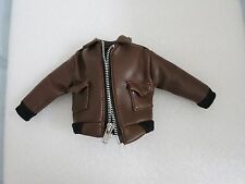 Hot 21st Century Toys 1/6 brown leather like jacket for action figure kitbash