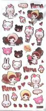 Love Kawaii Girl Animal Cat Bear Pig Strawberry 3D Vinyl Sticker Scrapbook JAPAN