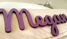 10 personalised wooden laser cut name tags place cards wedding table colour gold