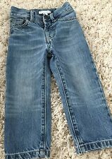 Burberry Boy Sz 2 Denim Jeans Pants Toddler Blue Straight Cut