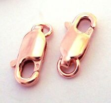 5x 14/20 kt ROSE gold filled lobster Claw Clasp  10mm w/ open jump ring USA RT01