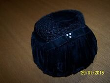 Vintage black velvet, netting Ladies Hat