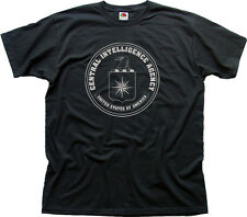 CIA Central Intelligence Agency USA navy black zinc cotton t-shirt 0263