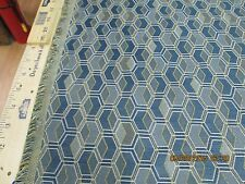 "3 YDS X 56"" OF ARC COM UPHOLSTERY FABRIC  DESIGN ""FACET"" COLOR CORNFLOWER"