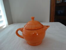 Homer Laughlin Fiesta Tangerine 2 Cup Childs Teapot with Lid Retired