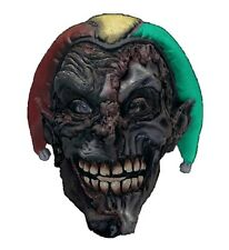 Adult Twisted MAD JOKER Mask Mardi Gras Evil Jester Clown Mens Costume Accessory
