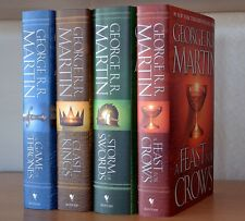 George R.R. Martin~SIGNED~A Song of Fire and Ice~4-Book Set~1st Ed HC+PHOTOS!!!