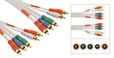 5 RCA Component Video Cable 12'ft Gold Plated RGB HDTV DVD Heavy Duty Thick 10'