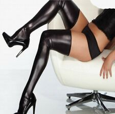 New Sexy Wet Look Faux Leather PVC Stockings & Leggings Hold Ups Fetish Shinny