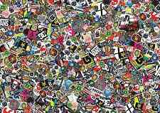 3 x A3 Sticker Bomb Sheet - JDM EURO DRIFT VW - Design 333 - (297MM x 420MM)