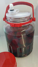 Large 3 litre Glass Fermentation Jar. With Sterilock antibacterial airlock.