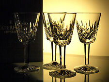 Waterford Crystal Lismore White Wine Glasses Set of 4, Brand New in Box, Ireland