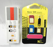 NEW NANO SIM CUTTER FOR IPHONE 5 REGULAR TO NANO & MICRO TO NANO + FREE ADAPTER