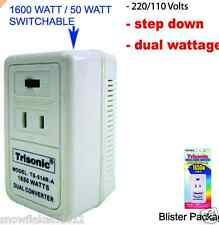 1650 WATT TRAVEL STEP DOWN AC VOLTAGE CONVERTER ADAPTER 220 TO 110