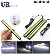 2 x LED DRL DAYTIME RUNNING LIGHTS FOG COB CAR LAMP WHITE DRIVING DAY 12v 17CM