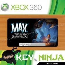 Max: la maldición de Brotherhood-Xbox 360-Cd Key Live Arcade mercado Descarga