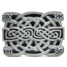 Unique Celtic Irish Knot Mesh Design Medieval Belt Buckle Mens Vintage Western