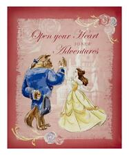 "Disney BEAUTY & The BEAST Fabric Large Panel Cotton Craft Quilting 36"" x 44"""