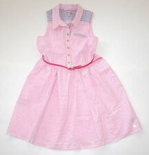 NEW Girls JUICY COUTURE KIDS Pink Seersucker Dress Sprint Easter size 12/14 NWOT
