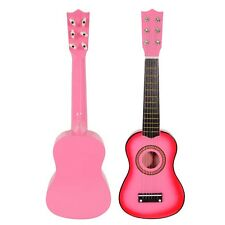 """Pink 21"""" 6 String Beginners Practice Acoustic Guitar Musical Instruments Kids"""
