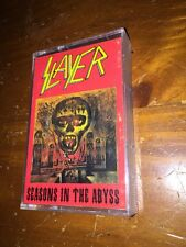 Seasons In The Abyss, Slayer 1990 Cassette Super Rare Turkish Pressing !
