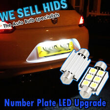 36mm 6SMD 5050 White Number Plate LED Upgrade VW Scirroco Golf Audi CANBUS 91-08