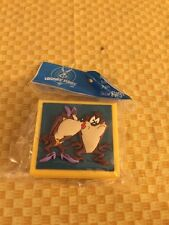 Vintage Taz Taz-manian Rubber Stamp Looney Tunes  Skunk Six Flags 1998 3D base