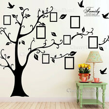 X-Large Family Tree Birds Photo Frame Quotes Wall Stickers Art Decals Home Decor