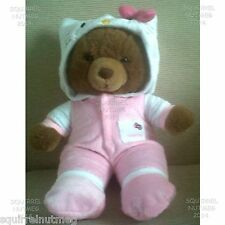 HELLO KITTY PINK ONESIE PYJAMAS ALSO FITS DESIGN A BEAR & OTHER TEDDY BEARS