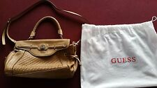 GORGEOUS 100% GENUINE Guess Woven Handbag Tan Bought in USA Perfect for NOW!!