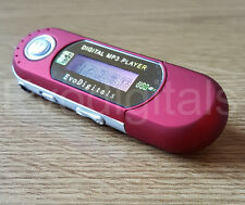 RED EVO 8GB MP3 WMA USB MUSIC PLAYER WITH LCD SCREEN FM RADIO VOICE RECORDER +