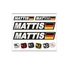 MATTIS Auto Fahrrad Motorrad Kart Helm Fahrername Aufkleber Sticker Flagge