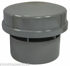 "Hepworth 4"" / 110mm air admittance valve in grey. Durgo valve AV110"