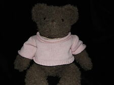 MAMAS AND PAPAS BROWN TEDDY BEAR SOFT TOY PINK JUMPER COMFORTER DOUDOU