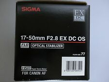 Brand New  Sigma 17-50 mm F2.8 EX DC OS HSM Lens for Canon EF mount ,APS-C size