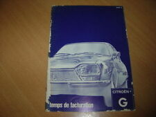 CATALOGUE Temps de facturation Citroën G