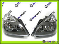 Renault Clio II PH2 2004-06 + Campus Pair NEW Headlamps Headlights Grey Surround
