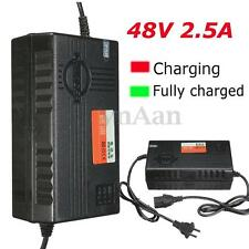 48V 2.5A Electric Scooter Bike Power Battery Charger Output 48V Adaptor PC Plug