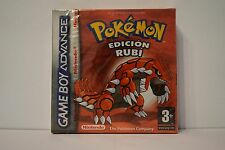 Pokemon edicion Rubi game boy advance precintado sellado version española ESP