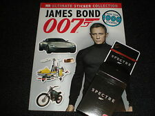 JAMES BOND 007 -  ULTIMATE STICKER COLLECTION BOOK & SPECTRE CARDS