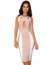 House of CB Celeb Boutique Misa Pink White Forever Mesh Bandage Unique Dress S