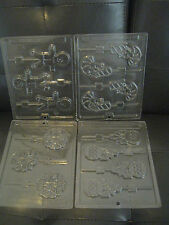 LIFE OF THE PARTY CANDY MOLDS, 4 (CANDYCANE, GINGERBREAD MAN, FLOWER & BOW)