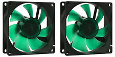 2 x Nanoxia 80mm Deep Silence Quiet PC Case Fan 1200 RPM, 15.8 CMF, 13.6 dBA