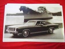 1970 CHEVROLET MONTE CARLO    11 X 17  PHOTO /  PICTURE